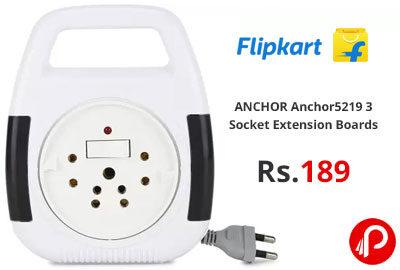 ANCHOR Anchor 5219 3 Socket Extension Boards @ 189 - Flipkart