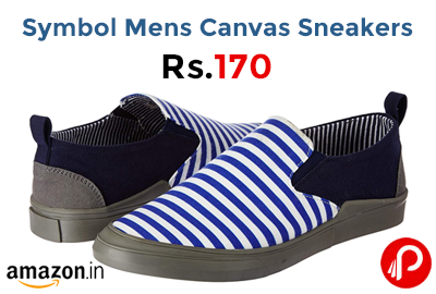 Symbol Mens Canvas Sneakers @ 170 - Amazon India