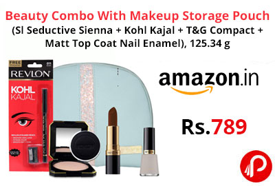 Beauty Combo With Makeup Storage Pouch @ 789 - Amazon India