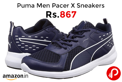 Puma Men Pacer X Graphicster IDP Sneakers @ 867 - Amazon India