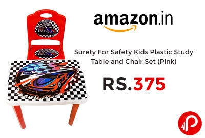 Kids Plastic Study Table and Chair @ 375 - Amazon India