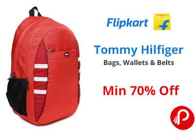 Min 70% Off on Tommy Hilfiger Bags, Wallets & Belts - Flipkart