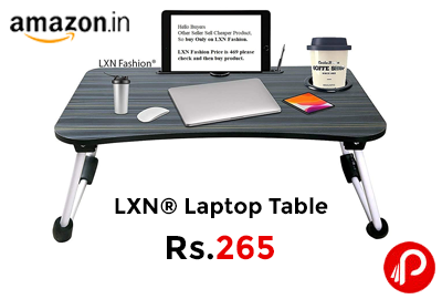 LXN® Laptop table for home @ 260 - Amazon India