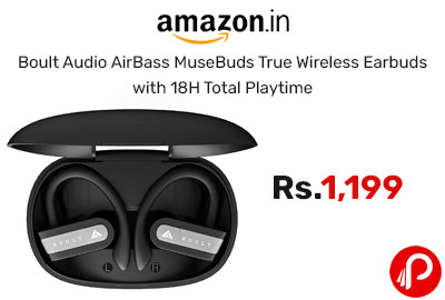 Boult Audio AirBass MuseBuds True Wireless Earbuds @ 1199 - Amazon India