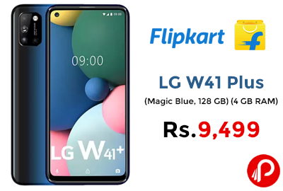 LG W41 Plus (128 GB, 4 GB RAM) @ 9,499 - Flipkart.