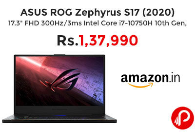 ASUS ROG Zephyrus S17 (2020) @ 1,37,990 - Amazon India