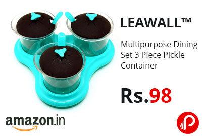 Multipurpose Dining Set 3 Piece Pickle Container @ 98 - Amazon India