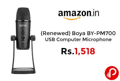 (Renewed) Boya BY-PM700 USB Computer Microphone @ 1,518 - Amazon India