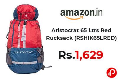 Aristocrat 65 Ltrs Red Rucksack @ 1629 - Amazon India