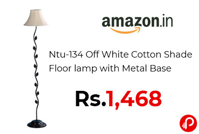 Cotton Shade Floor lamp with Metal Base @ 1,468 - Amazon India