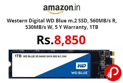 Western Digital WD Blue m.2 SSD 1TB @ 8,850 - Amazon India