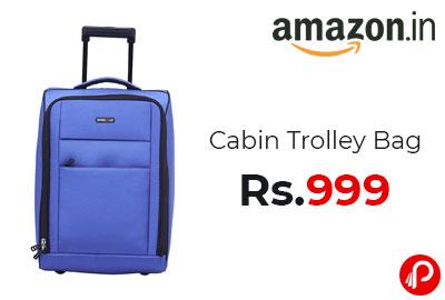 Cabin Trolley Bag 34 cms @ 999 - Amazon India