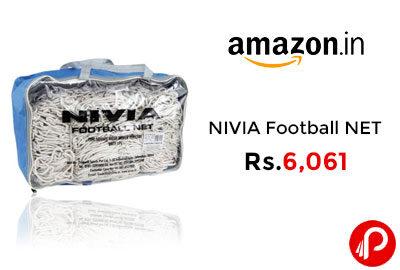 NIVIA Football NET 7.32X2.44M NET Hole @ 6061 - Amazon India