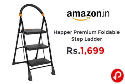 Happer Premium Foldable Step Ladder @ 1,699 - Amazon India