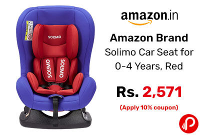 Amazon Brand - Solimo Car Seat for 0-4 Years, Red @ 2571 - Amazon India
