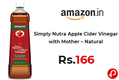 Simply Nutra Apple Cider Vinegar with Mother – Natural @ 166 - Amazon India
