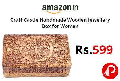Craft Castle Handmade Wooden Jewellery Box for Women @ 599 - Amazon India