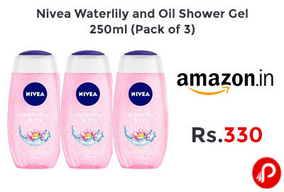 Nivea Waterlily and Oil Shower Gel, 250ml (Pack of 3) @ 330 - Amazon India