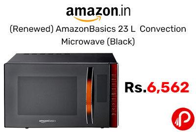 (Renewed) AmazonBasics 23 L Convection Microwave (Black) @ 6,562 - Amazon India