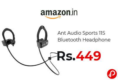 Ant Audio Sports 115 Bluetooth Headphone @ 449 - Amazon India