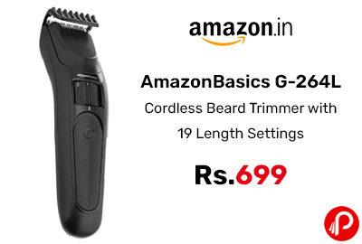 AmazonBasics G-264L Cordless Beard Trimmer @ 699 - Amazon India