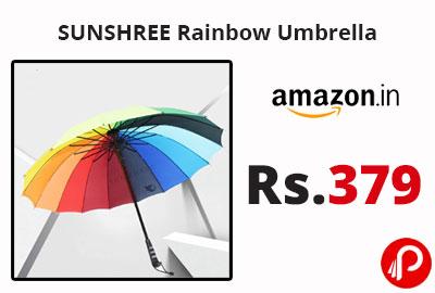 SUNSHREE Rainbow Umbrella @ 379 - Amazon India