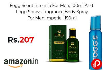 Fogg Scent Intensio For Men & Fogg Sprays Fragrance Body Spray @ 207 - Amazon India