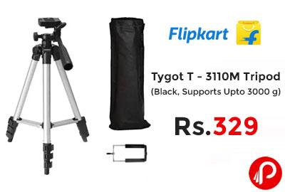 Tygot T - 3110M Tripod (Black, Supports Up to 3000 g) @ 329 - Flipkart