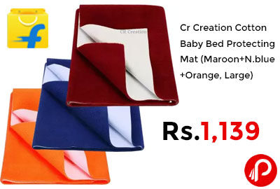Cr Creation Cotton Baby Bed Protecting Mat @ 1139 - Flipkart