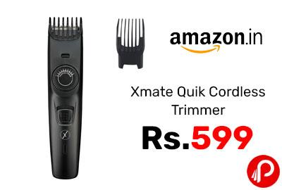 Xmate Quik Cordless Trimmer @ 599 - Amazon India