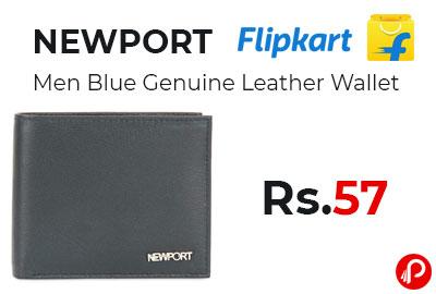 NEWPORT Men Blue Genuine Leather Wallet @ 57 - Flipkart