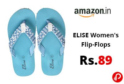 ELISE Women's Flip-Flops @ 89 - Amazon India