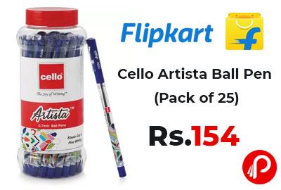 Cello Artista Ball Pen (Pack of 25) @ 154 - Flipkart