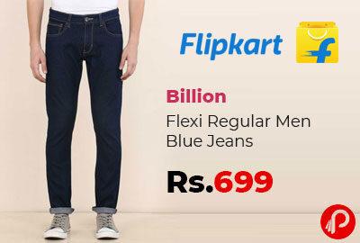 Flexi Regular Men Blue Jeans @ 329 - Flipkart
