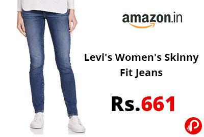 Levi's Women's Skinny Fit Jeans @ 661 - Amazon India