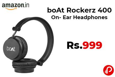 boAt Rockerz 400 On- Ear Headphones @ 999 - Amazon India