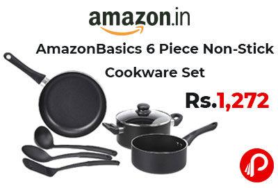 AmazonBasics 6 Piece Non-Stick Cookware Set @ 1,272 - Amazon India