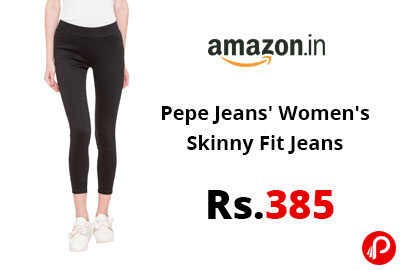 Pepe Jeans' Women's Skinny Fit Jeans @ 385 - Amazon India