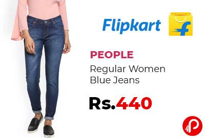 PEOPLE Regular Women Blue Jeans @ 440 - Flipkart
