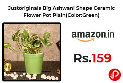 Justoriginals Big Ashwani Shape Ceramic Flower Pot Plain @ 159 - Amazon India
