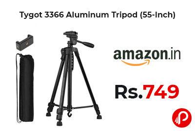 Tygot 3366 Aluminum Tripod (55-Inch) at 749 - Amazon India