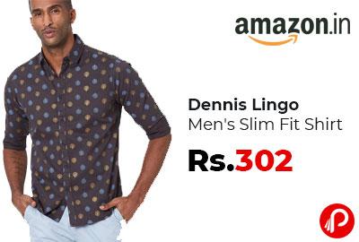 Dennis Lingo Men's Slim Fit Shirt at 302 - Amazon India
