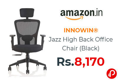 INNOWIN® Jazz High Back Office Chair (Black) @ 8,170 - Amazon India
