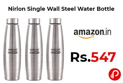 Nirlon Single Wall Steel Water bottle @ 547 - Amazon India