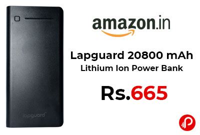 Lapguard 20800 mAh Lithium Ion Power Bank @ 665 - Amazon India