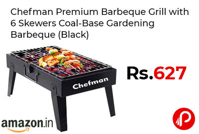 Chefman Premium Barbeque Grill with 6 Skewers @ 627 - Amazon India