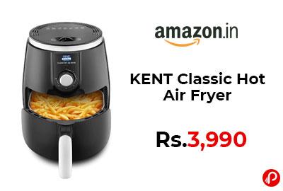KENT Classic Hot Air Fryer @ 3,990 - Amazon India