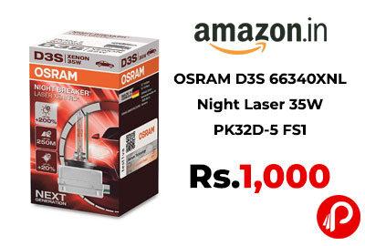OSRAM D3S 66340XNL Night Laser 35W PK32D-5 FS1 @ 1000 - Amazon India