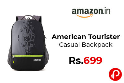 American Tourister Casual Backpack @ 699 - Amazon India