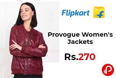 Provogue Women's Jackets Starting @ 270 - Flipkart